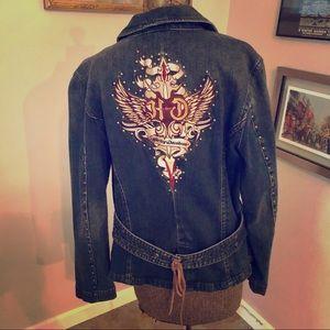Original Harley Davidson Jean Jacket. Biker Chic!